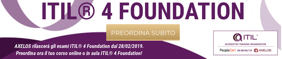 Banner ITIL 4 Foundation   ITA