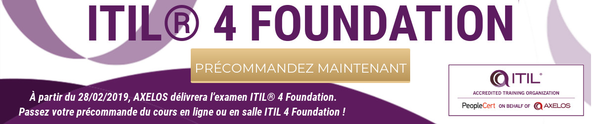Banner ITIL 4 Foundation FRA