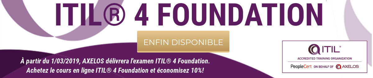 ITIL 4 Foundation disponibile FR