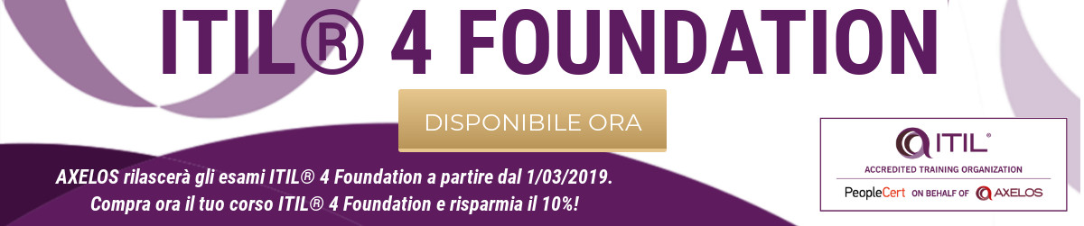 ITIL 4 Foundation disponibile ITA