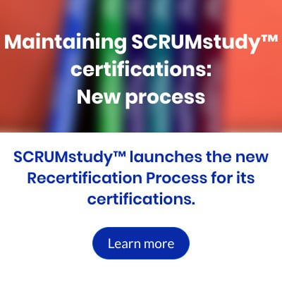 Maintaining SCRUMstudy™ certifications   New process ENG