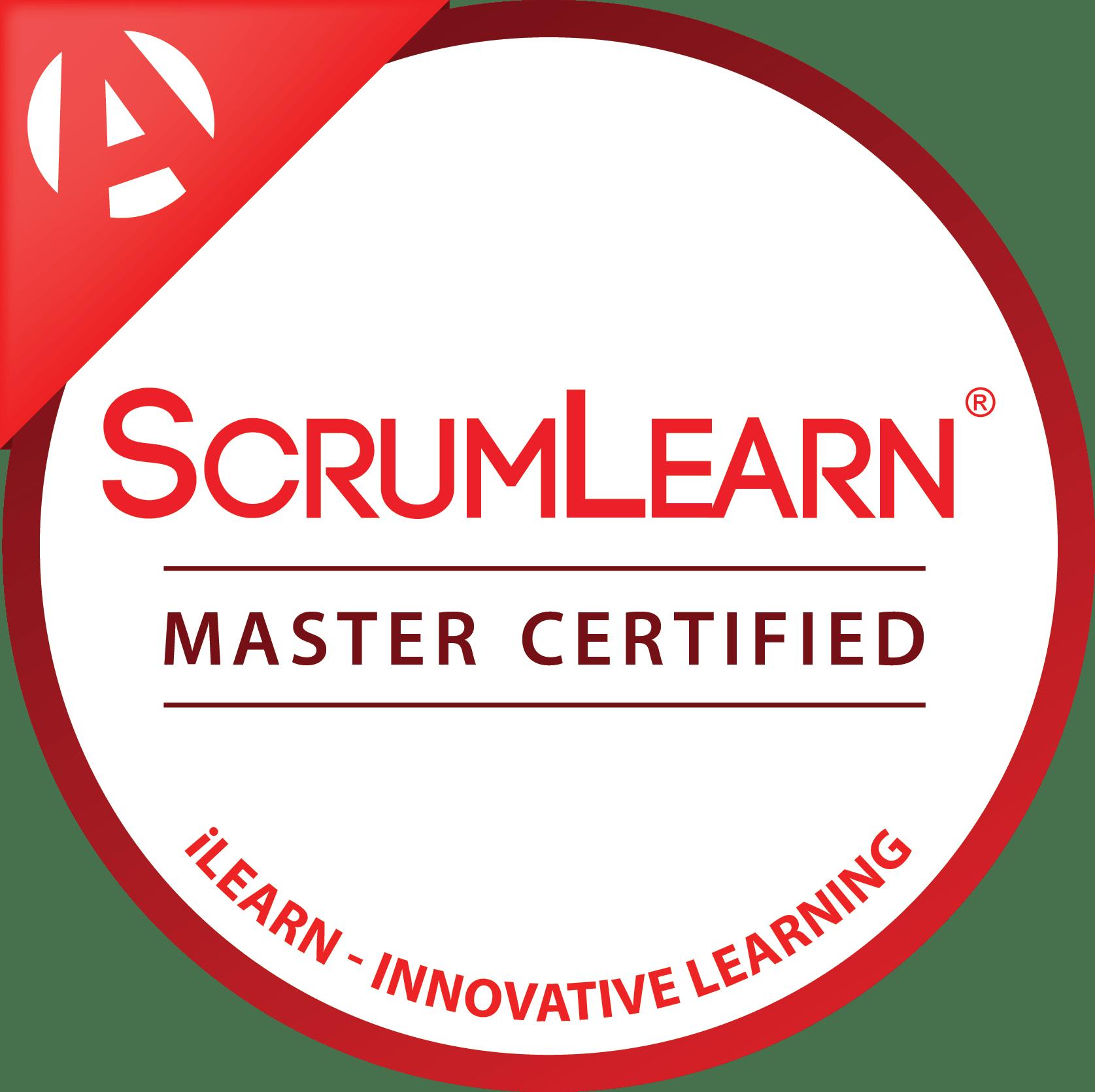 ScrumLearn Scrum Master Certified Digital Badge