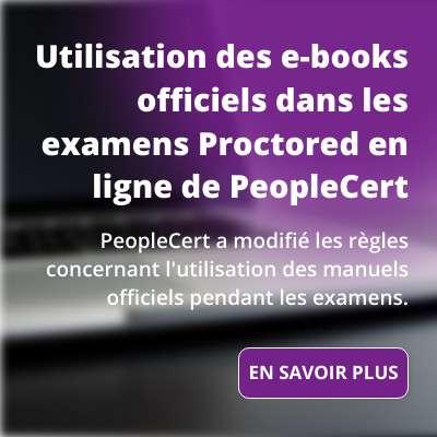 Mise à jour : Utilisation des e-books officiels dans les examens Proctored en ligne de PeopleCert