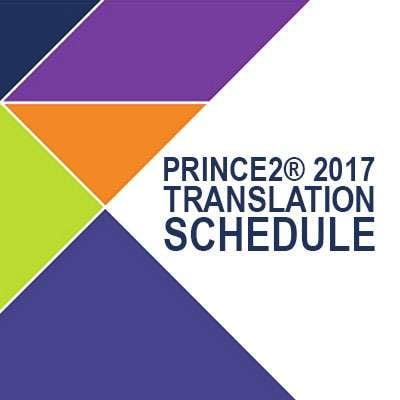 Calendrier de traductions PRINCE2® 2017 de AXELOS