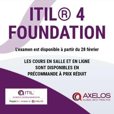 ITIL® 4 FOUNDATION est enfin arrivé !