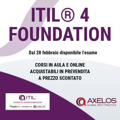 È arrivato ITIL® 4 Foundation!