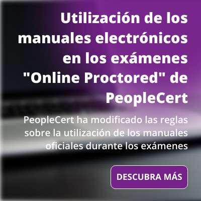 """Actualización: Utilización de los manuales electrónicos en los exámenes """"Online Proctored"""" de PeopleCert"""