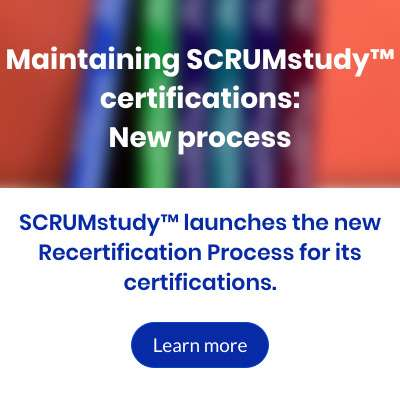 Maintaining SCRUMstudy certifications - New process