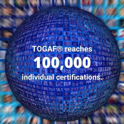 TOGAF® 9 Certification passes 100,000 milestone!